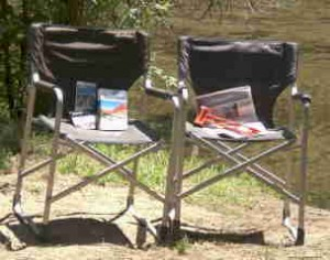 Foto of Two Macabee Folding Camping Chairs by Tuolumne River